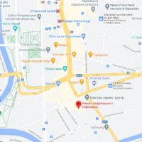 ремонт кофемашин в Харькове карта